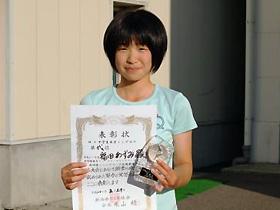 女子シングルス 中学生の部 準優勝:福田あずみさん