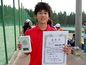 14歳以下男子シングルス 準優勝:結城 慎之介くん